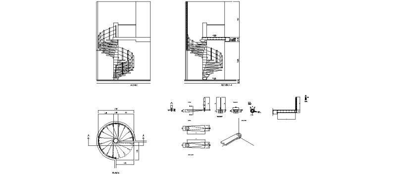Bloques autocad gratis escaleras - Dimensiones escalera de caracol ...