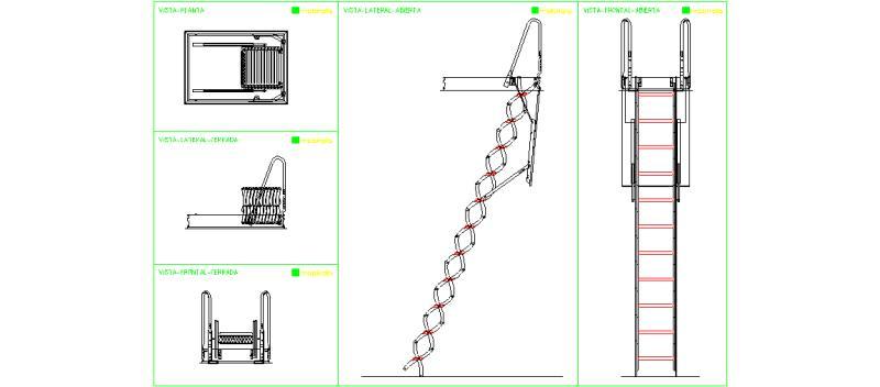 Bloques autocad gratis escaleras for Escaleras en planta