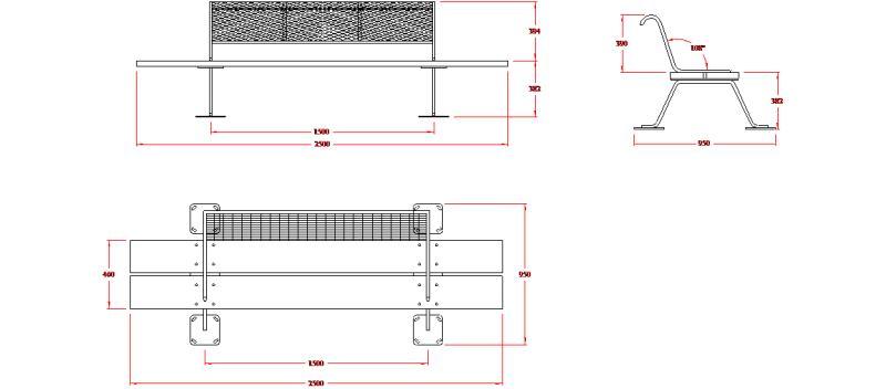 Bloques autocad gratis mobiliario urbano for Dimensiones de mobiliario