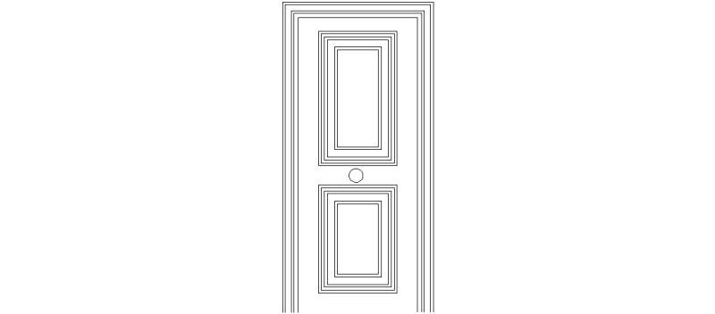 Bloques autocad gratis puertas interiores y de entrada for Puertas para vivienda