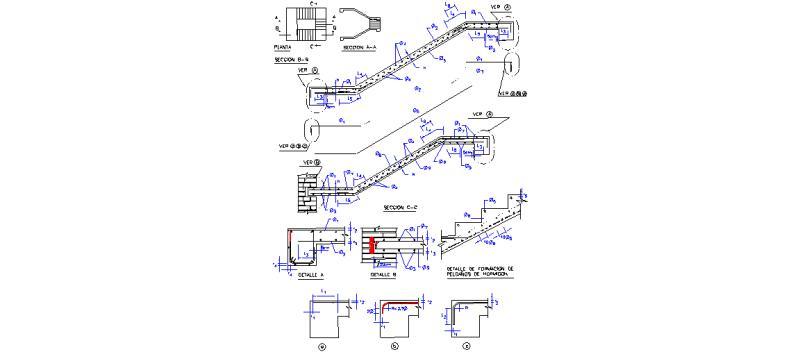 Bloques autocad gratis elementos estructurales de - Escalera metalica prefabricada ...