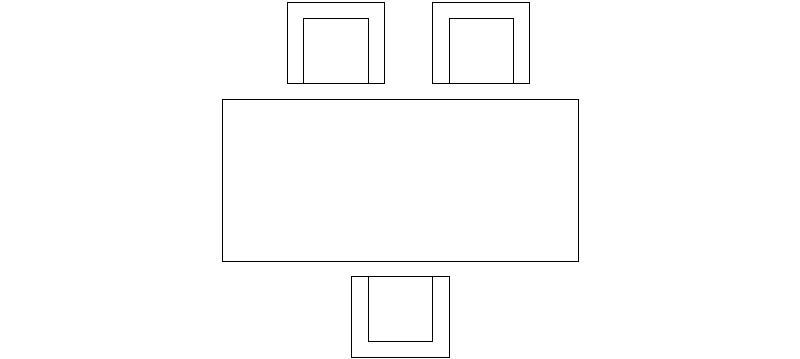 Bloques autocad gratis muebles mesa de comedor y oficina for Muebles de oficina cad 2d