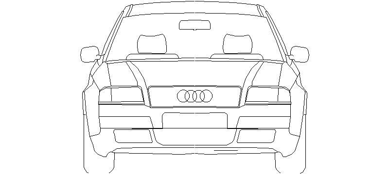 bloques autocad gratis de coche  alzado frontal  audi a6