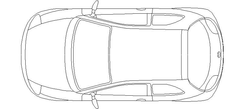 bloques autocad gratis de coche vista en planta ford ka