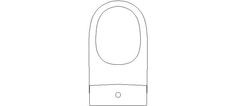 bloques autocad gratis de inodoro visto en planta mod 3