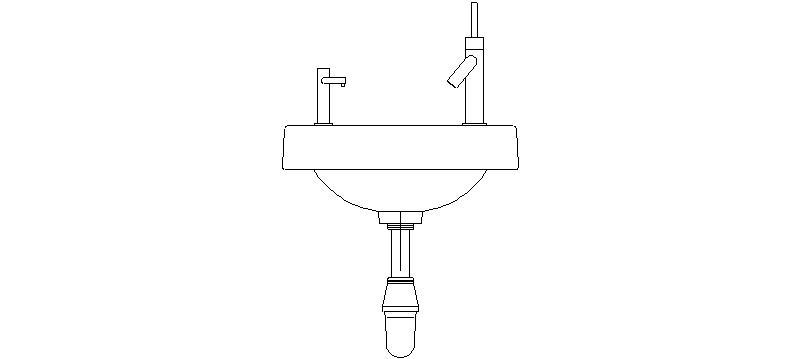 Bloques autocad gratis de lavabo visto en alzado frontal con jabonera - Bloques autocad banos ...