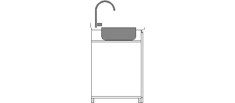 Bloques autocad gratis de mueble cocina con fregadero y grifo - Bloques autocad grifos ...