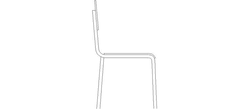 Bloques autocad gratis de silla en alzado lateral for Silla para dibujar