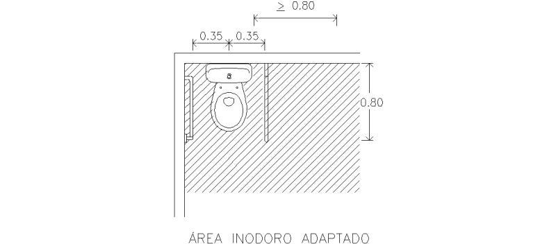 Bloque Baño Adaptado:Estás en: Bloques AutoCAD Gratis » descarga bloques » Accesibilidad