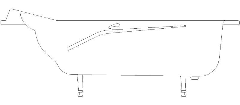 Bloques autocad gratis de alzado lateral de ba era - Baneras vistas ...