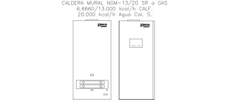 Bloques autocad gratis de caldera mural a gas for Caldera de butano