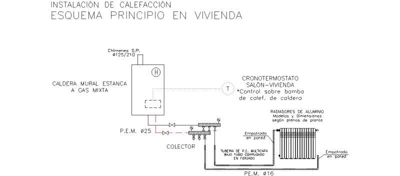 Bloques autocad gratis de esquema principio instalaci n - Instalacion de calefaccion por radiadores ...