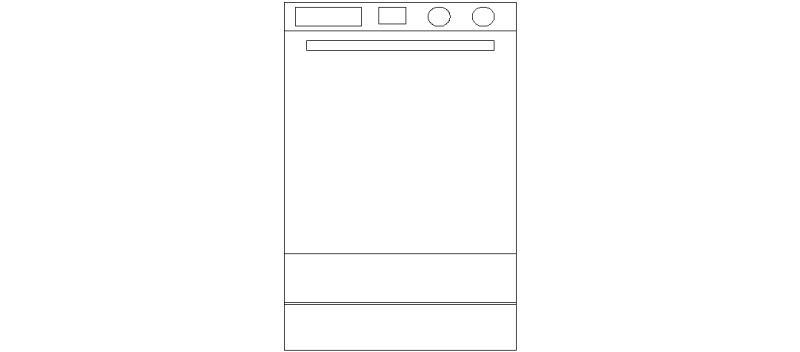 Bloques autocad gratis de lavavajillas en alzado for Bloques autocad cocina