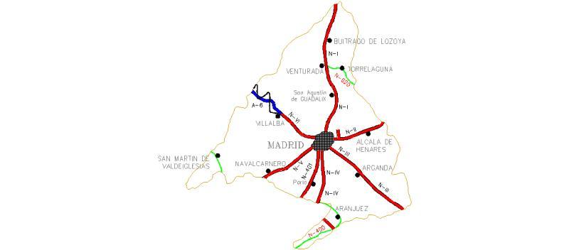 Bloques AutoCAD Gratis de MapaprovinciaMadrid