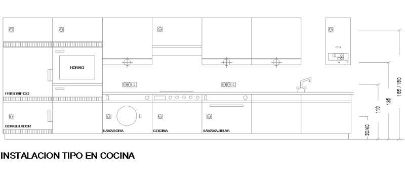Bloques autocad gratis de vista en alzado de instalaci n for Bloques autocad cocina