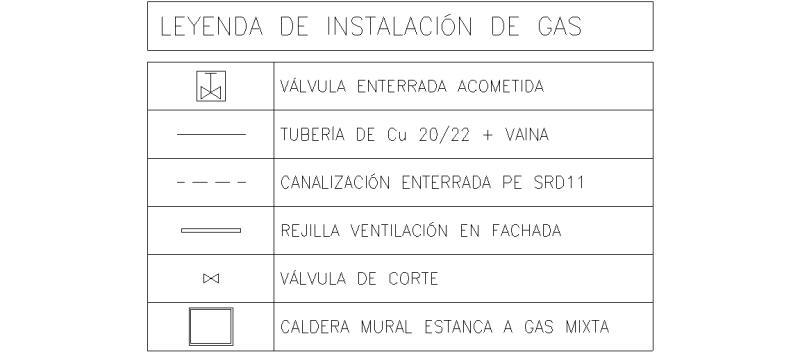 Bloques autocad gratis de leyenda de instalaci n de gas - Instalacion calentador gas natural ...