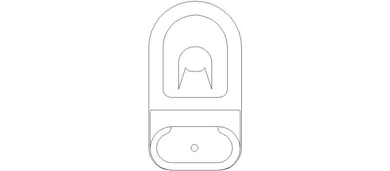 bloques autocad gratis de inodoro visto en planta mod 13