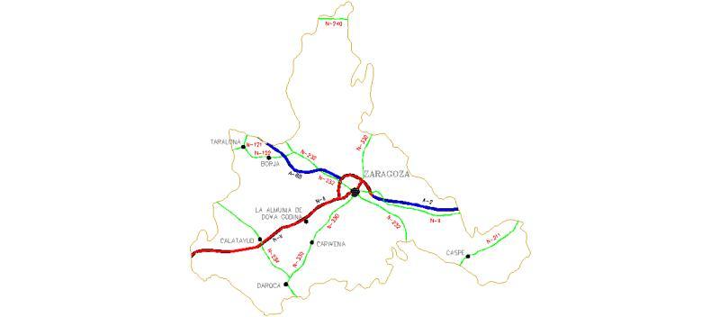 Mapa Provincia De Zaragoza.Bloques Autocad Gratis De Mapa De La Provincia De Zaragoza