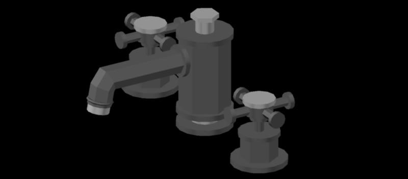 grifería para lavabo en 3 dimensiones, modelo 01