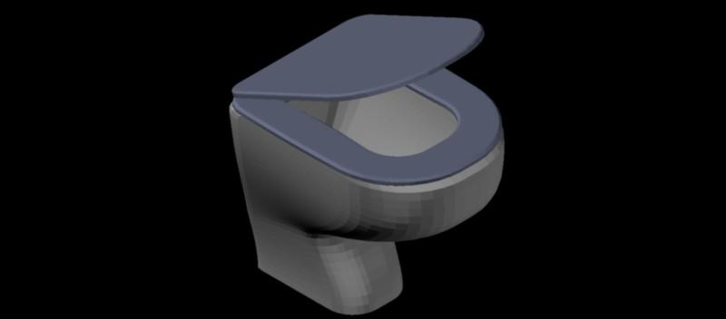 inodoro - w.c. en 3 dimensiones, modelo 01