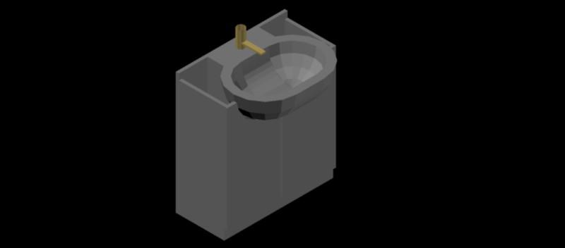 mueble de lavabo en 3 dimensiones