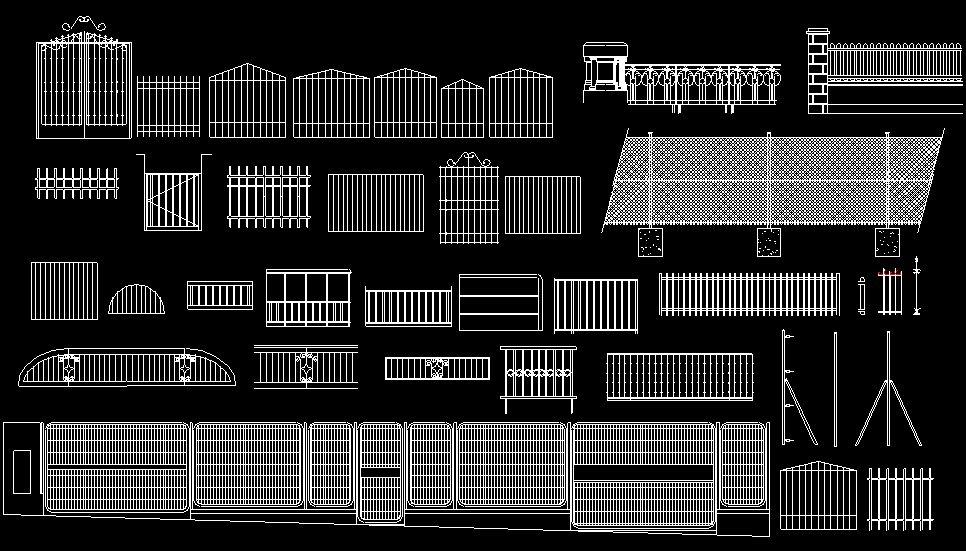 Bloques autocad gratis de cierres exteriores verjas rejas - Rejas exteriores ...
