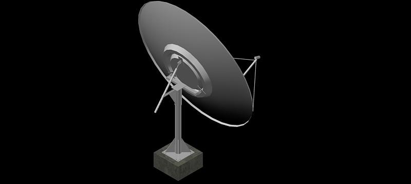 Antena parabólica en 3d (3 dimensiones)