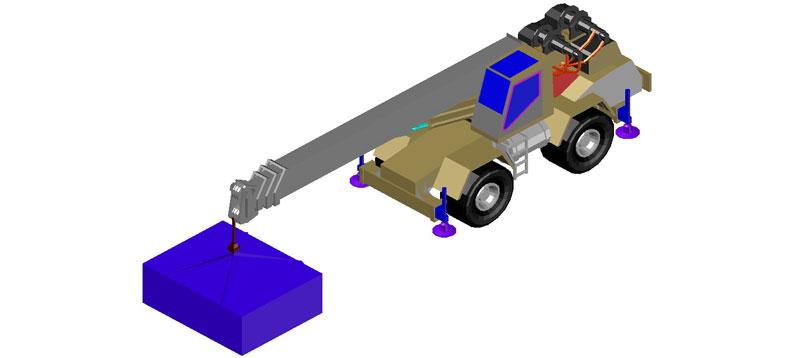 autogrúa en 3d (3 dimensiones) modelo 02