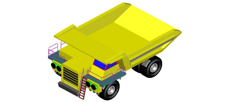 camión movimiento de tierras en 3d (3 dimensiones)