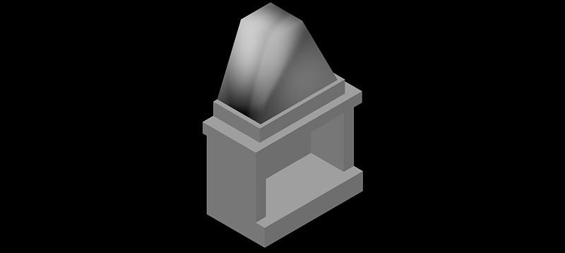 chimenea en 3d (3 dimensiones) modelo 01
