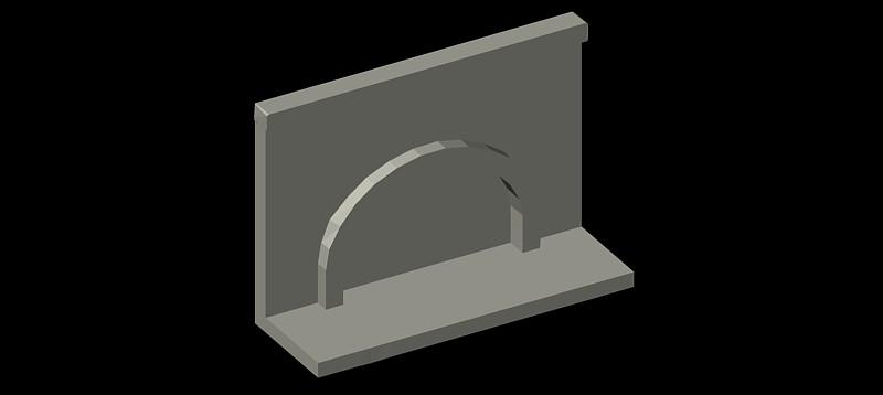chimenea en 3d (3 dimensiones) modelo 02