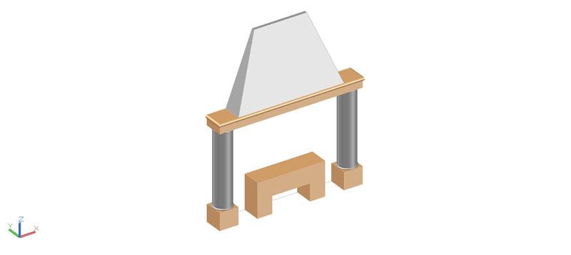 chimenea en 3d (3 dimensiones) modelo 03