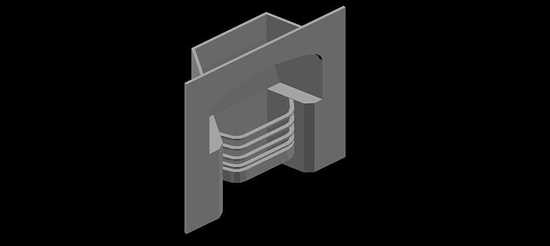 chimenea en 3d (3 dimensiones) modelo 04