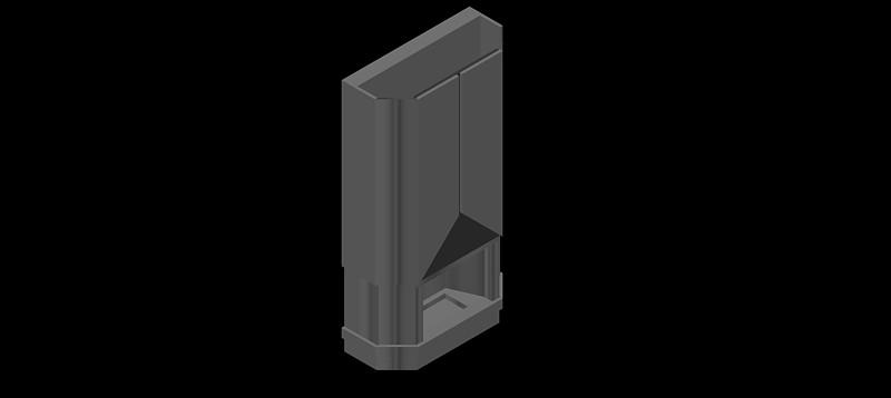chimenea en 3d (3 dimensiones) modelo 05