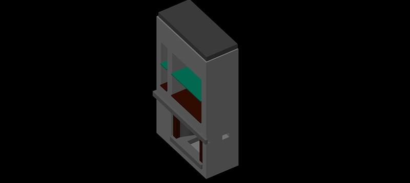 chimenea en 3d (3 dimensiones) modelo 06
