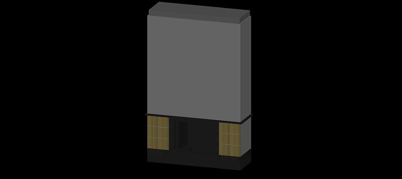 chimenea en 3d (3 dimensiones) modelo 08