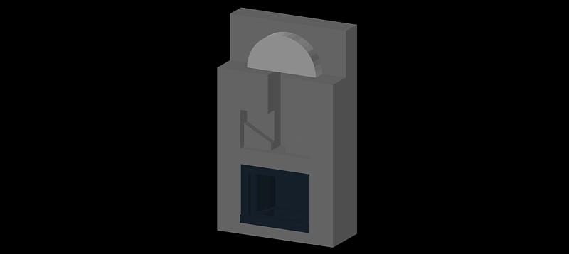chimenea en 3d (3 dimensiones) modelo 09