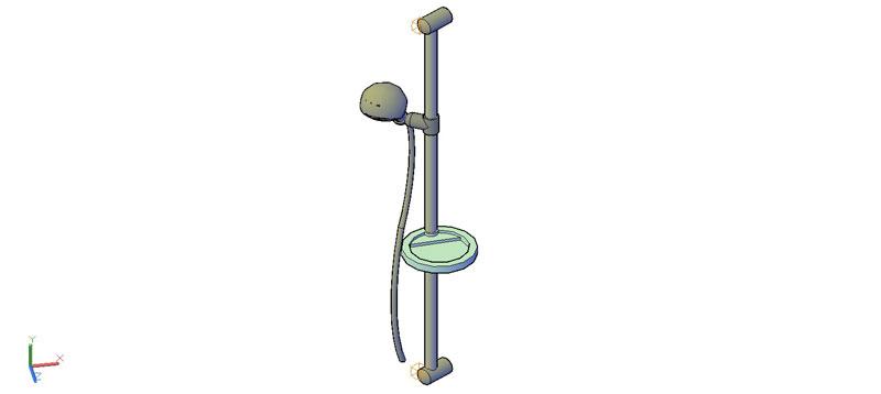 grifo de ducha con barra en 3d (3 dimensiones)