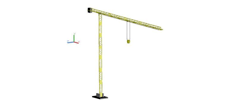 grúa torre en 3d (3 dimensiones)