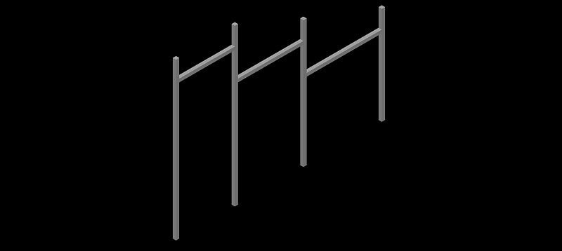 barras de parque infantil en 3d (3 dimensiones)