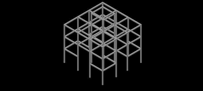 trepador barras cúbico en 3d (3 dimensiones)