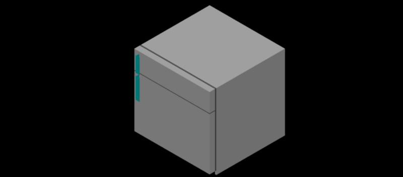 nevera - frigorífico compacto con congelador en 3d