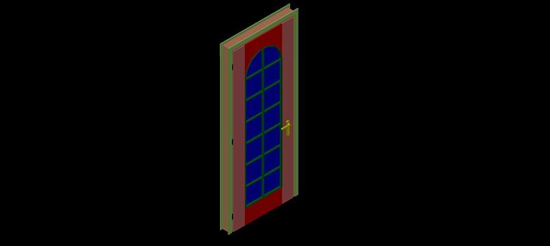 Puerta cristalera en 3d (3 dimensiones)