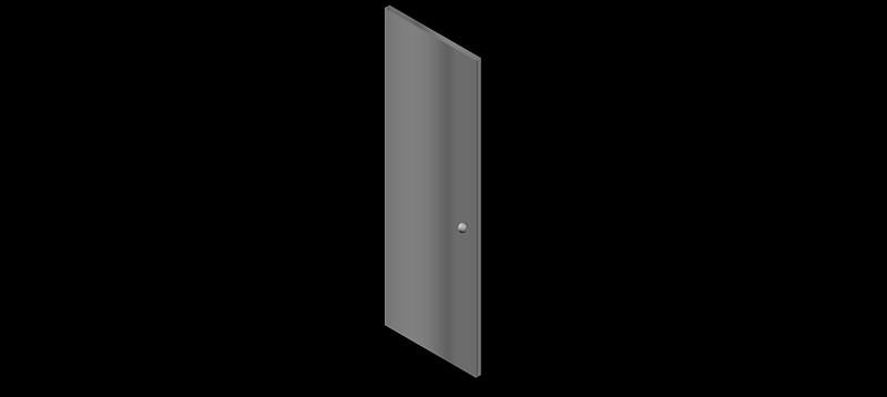 puerta de una hoja en 3d (3 dimensiones)