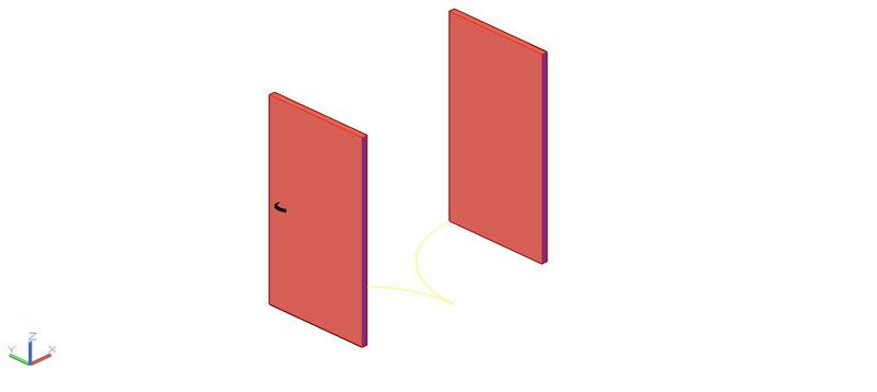 puerta doble en 3d (3 dimensiones) modelo 01