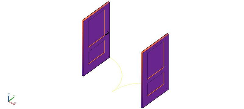 puerta doble en 3d (3 dimensiones) modelo 03