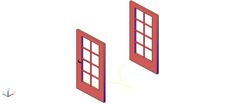 puerta doble en 3d (3 dimensiones) modelo 04