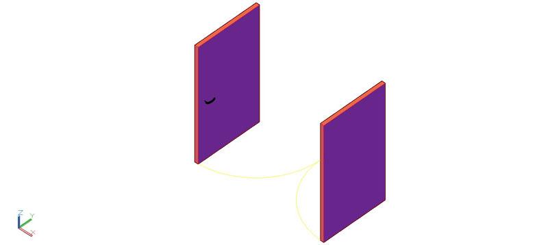 puerta doble en 3d (3 dimensiones) modelo 05