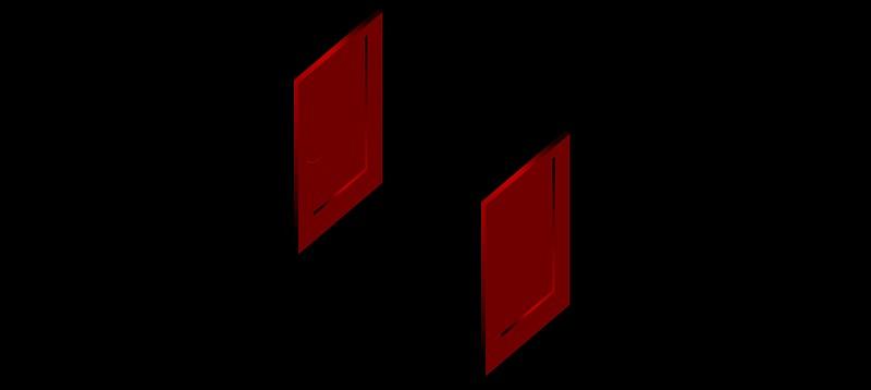 puerta doble en 3d (3 dimensiones) modelo 06