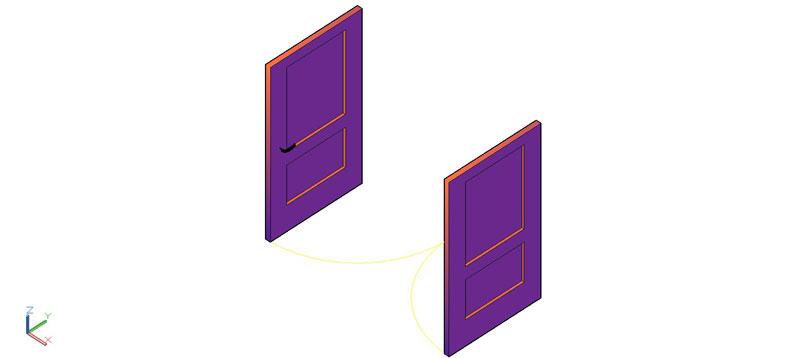 puerta doble en 3d (3 dimensiones) modelo 07